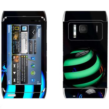 Виниловая наклейка «Объемные шары» на телефон Nokia N8