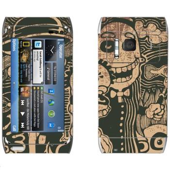 Виниловая наклейка «Очень странные создания» на телефон Nokia N8