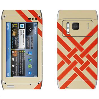 Виниловая наклейка «Переплетающиеся оранжевые полосы - Georgiana Paraschiv» на телефон Nokia N8