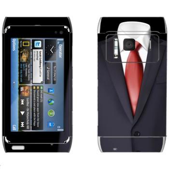 Виниловая наклейка «Пиджак и красный галстук» на телефон Nokia N8