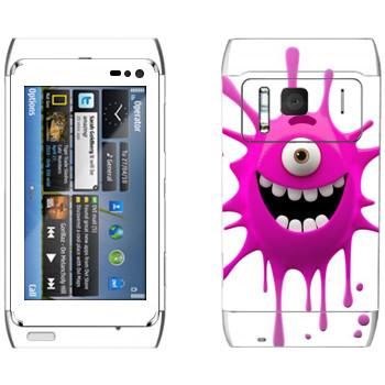 Виниловая наклейка «Позитивная клякса» на телефон Nokia N8