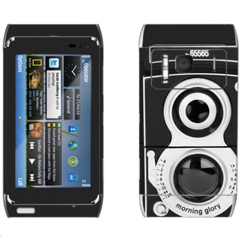 Виниловая наклейка «Ретро фотокамера» на телефон Nokia N8