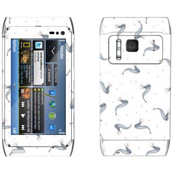 Виниловая наклейка «Рыбки - Kisung» на телефон Nokia N8