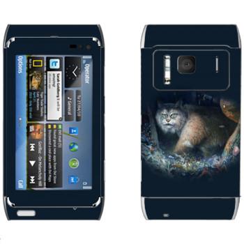 Виниловая наклейка «Рысь - Kisung» на телефон Nokia N8