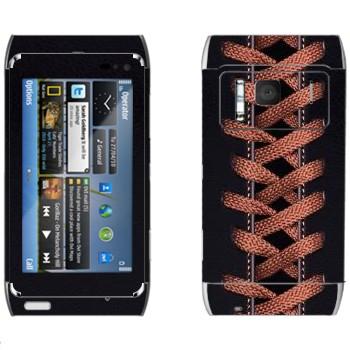 Виниловая наклейка «Шнуровка» на телефон Nokia N8