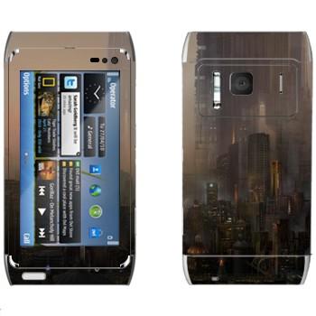 Виниловая наклейка «Сосуществование миров» на телефон Nokia N8
