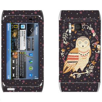 Виниловая наклейка «Сова - Anna Deegan» на телефон Nokia N8