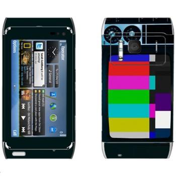 Виниловая наклейка «Старый телевизор» на телефон Nokia N8