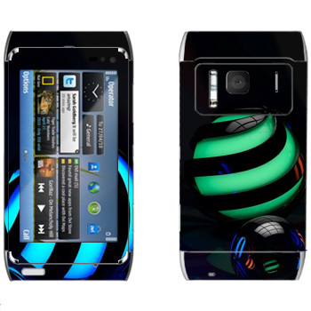 Виниловая наклейка «Стеклянные шарики» на телефон Nokia N8