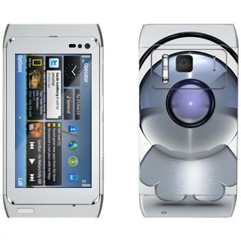 Виниловая наклейка «Техно-человечек в наушниках» на телефон Nokia N8