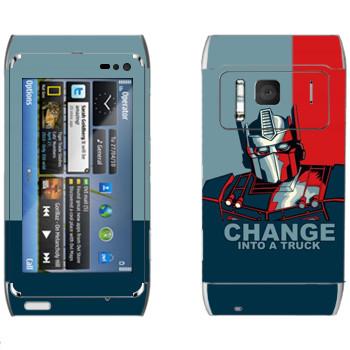 Виниловая наклейка «Трансформер : Change into a truck» на телефон Nokia N8