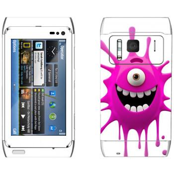 Виниловая наклейка «Веселая клякса» на телефон Nokia N8