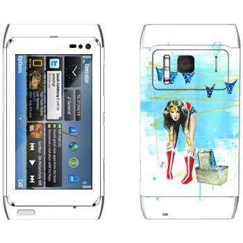 Виниловая наклейка «Весна в воздухе» на телефон Nokia N8