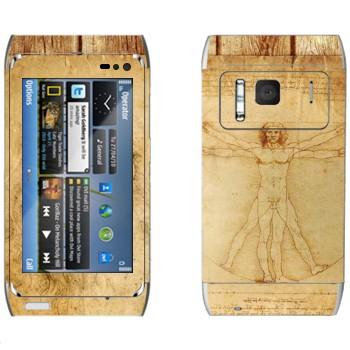 Виниловая наклейка «Витрувианский человек» на телефон Nokia N8