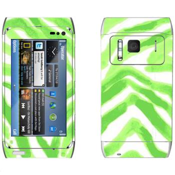 Виниловая наклейка «Зеленые разводы - Georgiana Paraschiv» на телефон Nokia N8