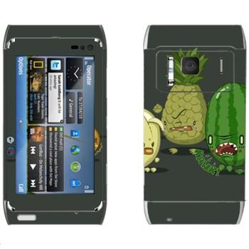 Виниловая наклейка «Злые фрукты» на телефон Nokia N8