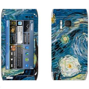 Виниловая наклейка «Звёздная ночь» на телефон Nokia N8