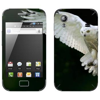 Виниловая наклейка «Белая сова в полете» на телефон Samsung Galaxy Ace