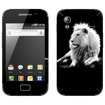 Виниловая наклейка «Белый лев» на телефон Samsung Galaxy Ace