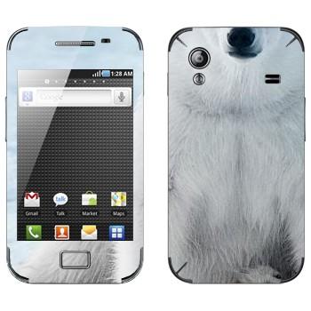 Виниловая наклейка «Белый медведь» на телефон Samsung Galaxy Ace