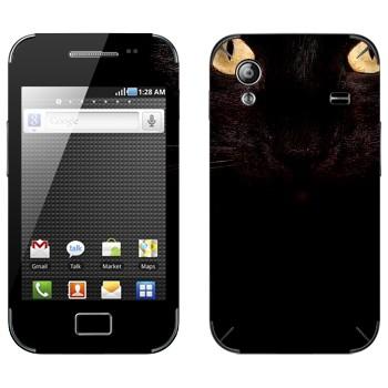 Виниловая наклейка «Черная кошка» на телефон Samsung Galaxy Ace