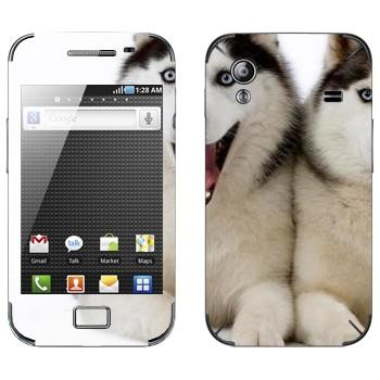 Виниловая наклейка «Две лайки» на телефон Samsung Galaxy Ace