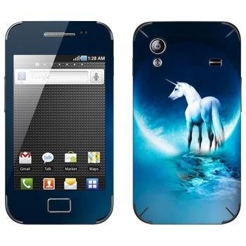 Виниловая наклейка «Единорог» на телефон Samsung Galaxy Ace
