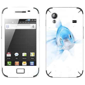Виниловая наклейка «Голубая рыбка» на телефон Samsung Galaxy Ace