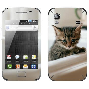 Виниловая наклейка «Котенок в ванной» на телефон Samsung Galaxy Ace