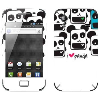 Виниловая наклейка «Квадратные панды» на телефон Samsung Galaxy Ace