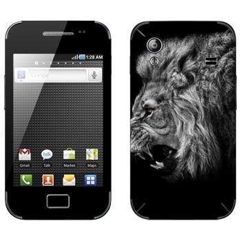 Виниловая наклейка «Рычащий лев» на телефон Samsung Galaxy Ace