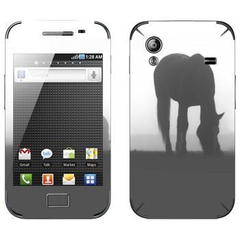 Виниловая наклейка «Лошадь в тумане» на телефон Samsung Galaxy Ace