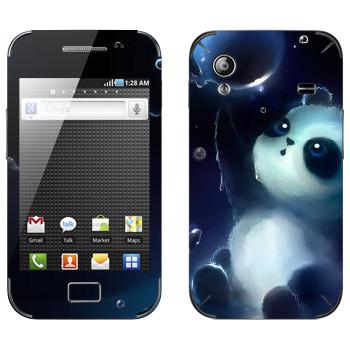Виниловая наклейка «Панда и мыльный пузырь» на телефон Samsung Galaxy Ace