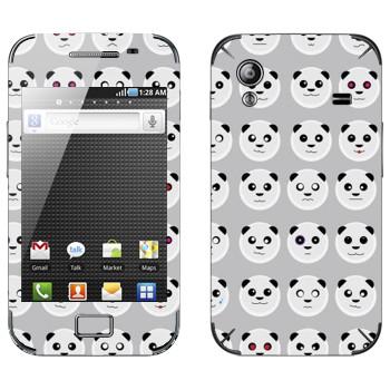 Виниловая наклейка «Панда-смайлы» на телефон Samsung Galaxy Ace