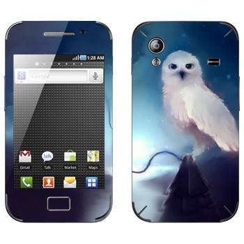 Виниловая наклейка «Полярная сова ночью» на телефон Samsung Galaxy Ace