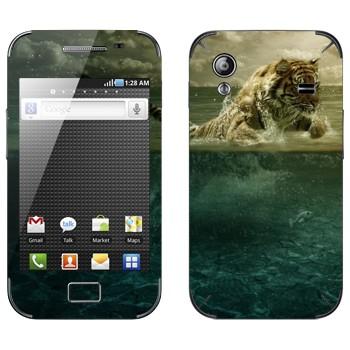 Виниловая наклейка «Тигр Ричард Паркер - Жизнь Пи» на телефон Samsung Galaxy Ace