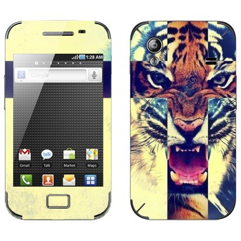 Виниловая наклейка «Рычащий тигр» на телефон Samsung Galaxy Ace