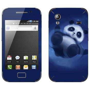 Виниловая наклейка «Забавная панда» на телефон Samsung Galaxy Ace
