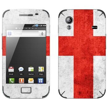 Виниловая наклейка «Флаг Англии» на телефон Samsung Galaxy Ace