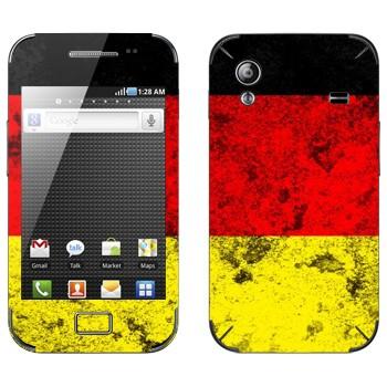 Виниловая наклейка «Флаг Германии» на телефон Samsung Galaxy Ace