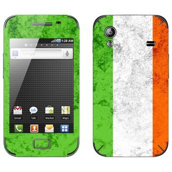 Виниловая наклейка «Флаг Ирландии» на телефон Samsung Galaxy Ace