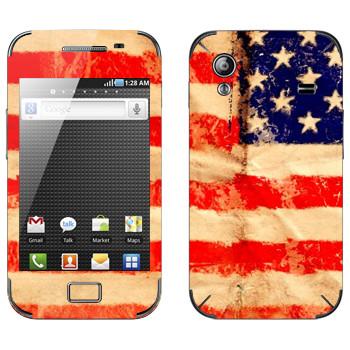 Виниловая наклейка «Флаг Соединенных Штатов Америки» на телефон Samsung Galaxy Ace