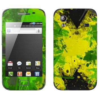 Виниловая наклейка «Флаг Ямайки акварелью» на телефон Samsung Galaxy Ace