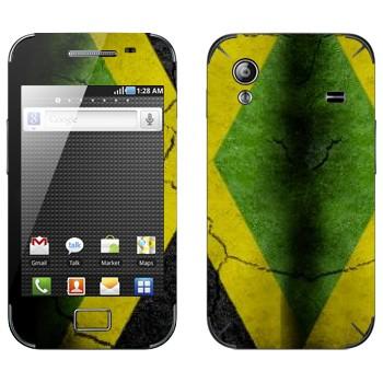 Виниловая наклейка «Флаг Ямайки на асфальте» на телефон Samsung Galaxy Ace
