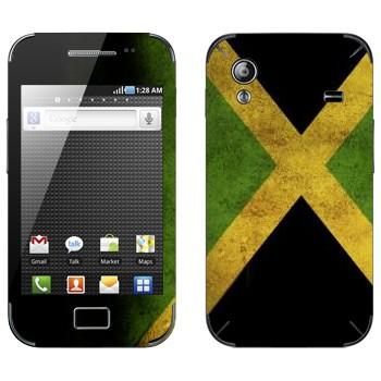 Виниловая наклейка «Флаг Ямайки» на телефон Samsung Galaxy Ace