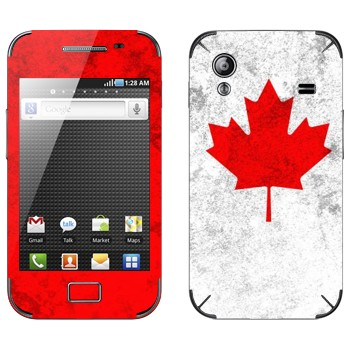 Виниловая наклейка «Канада флаг» на телефон Samsung Galaxy Ace