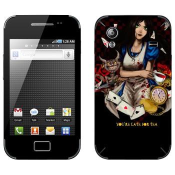 Виниловая наклейка «Alice: Madness Returns» на телефон Samsung Galaxy Ace