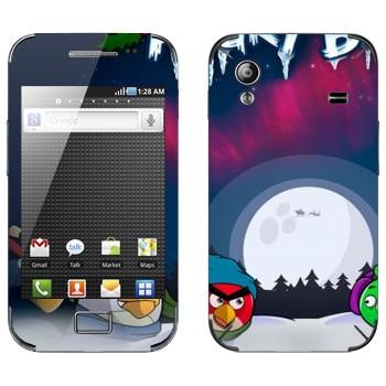Виниловая наклейка «Angry Birds зимой» на телефон Samsung Galaxy Ace