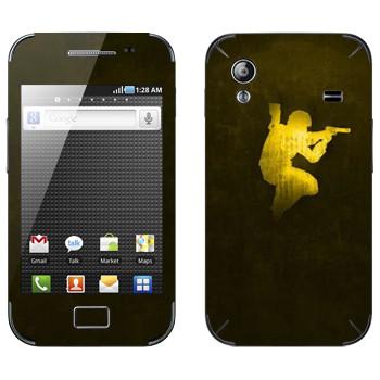 Виниловая наклейка «Counter Strike эмблема» на телефон Samsung Galaxy Ace