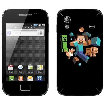 Виниловая наклейка «Minecraft» на телефон Samsung Galaxy Ace